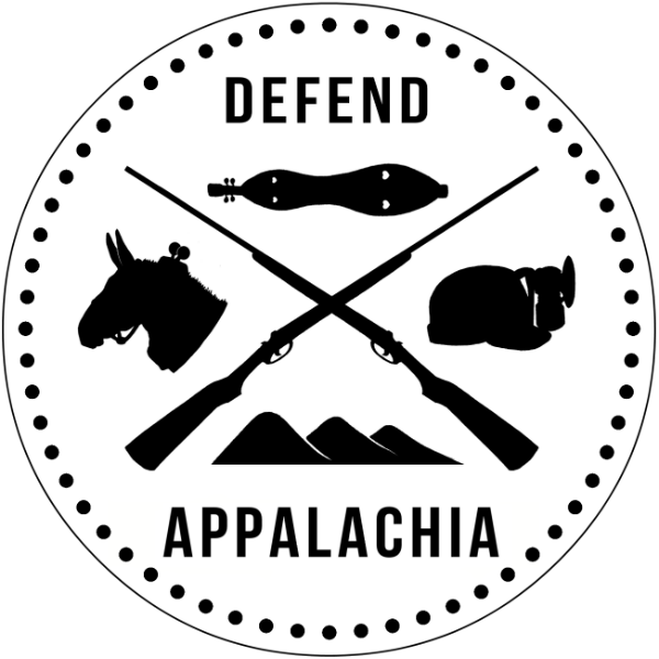 Defend Appalachia – Circle Logo – Sticker resized