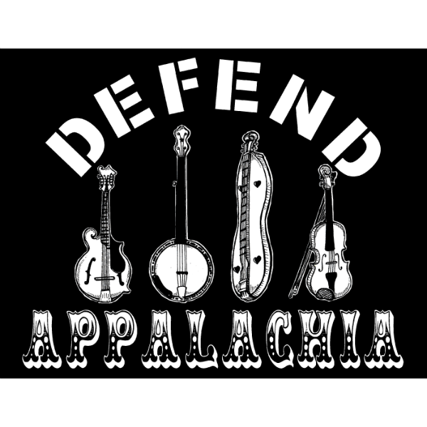 DefendAppalachia – Mountain Music Sticker – resized