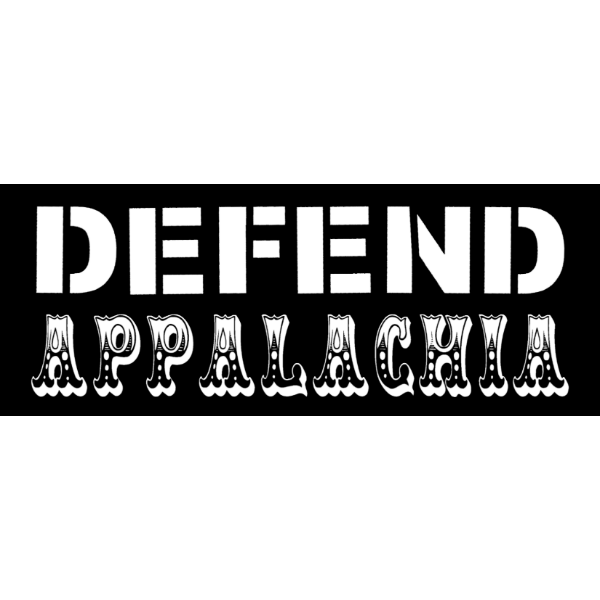 defend appalachia stacked text sticker black resized